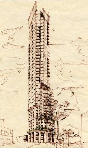 Quarters Hotel + Condominiums - tower concept view