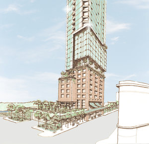 Quarters Hotel + Condominiums - tower concept detail