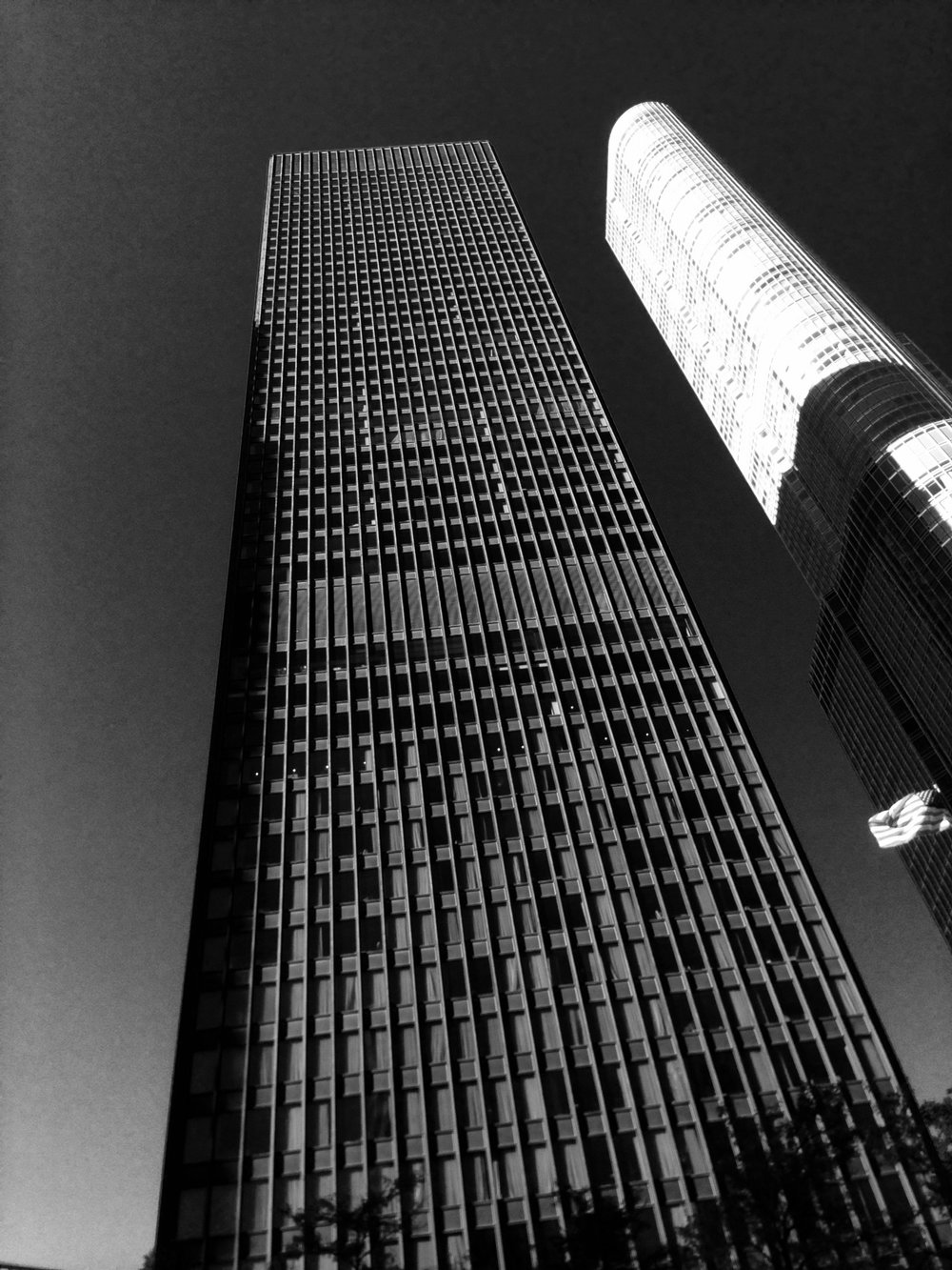 Another view of Trump Tower & Mies.  Mies died before this last tower of his was finished.