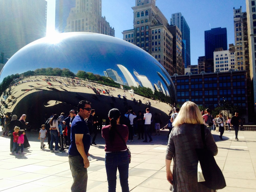 Cloud Gate……….or the Bean by  Sir Anish Kapoor