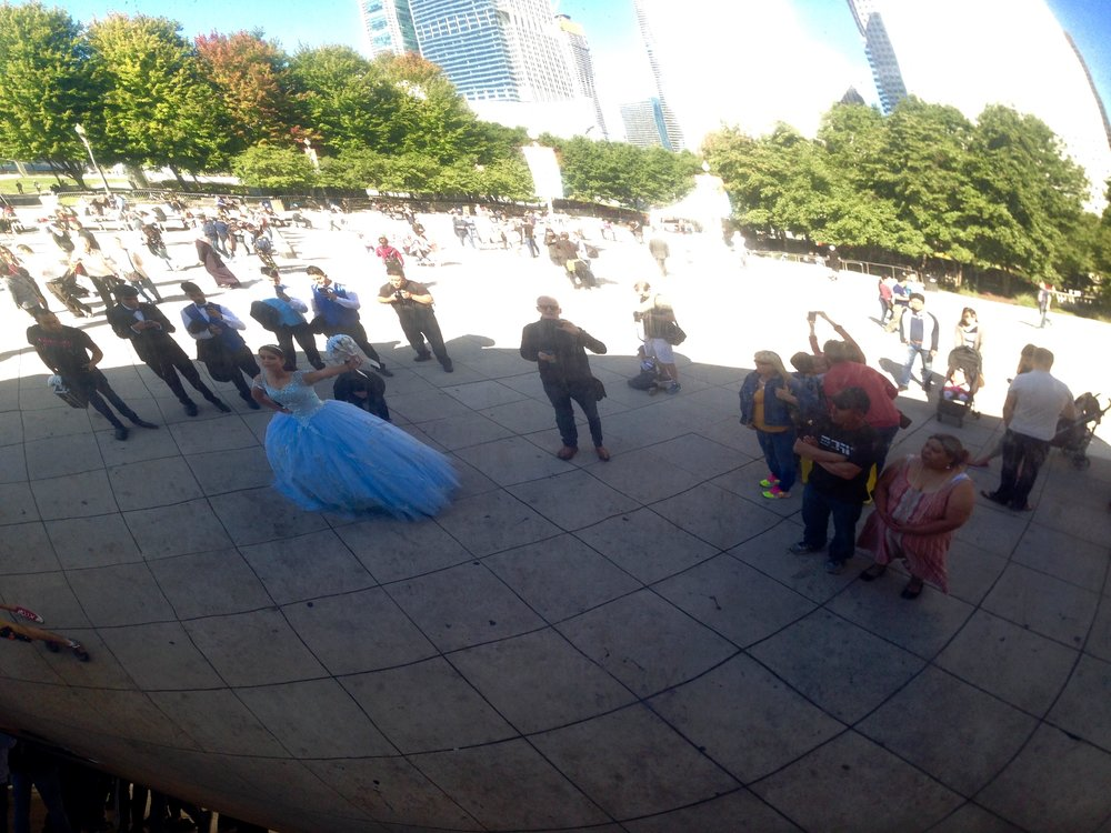 At the wedding in the Bean