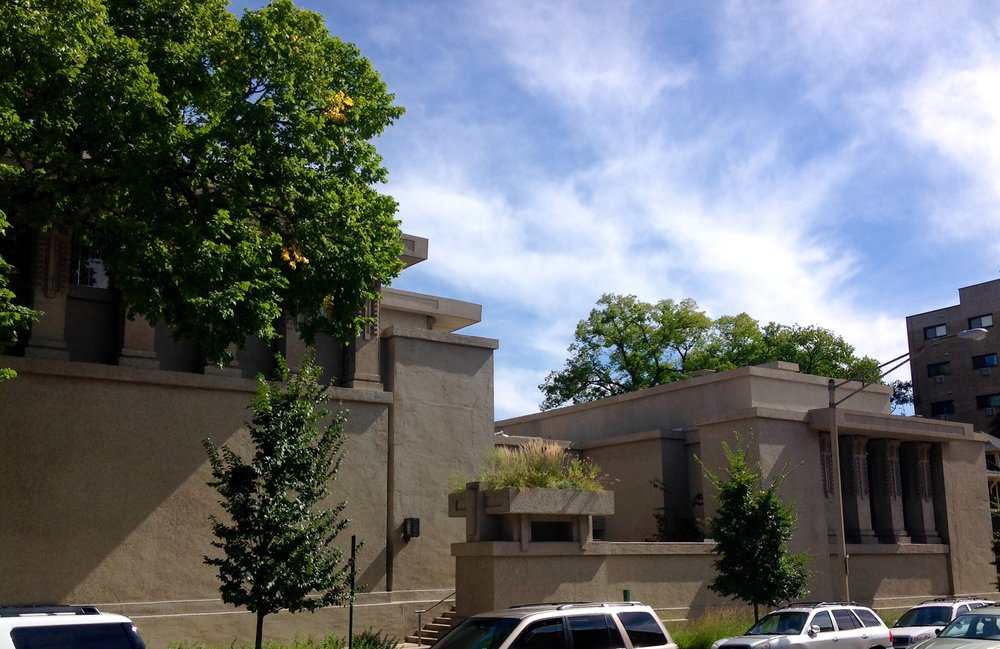 Unity Temple West Elevation