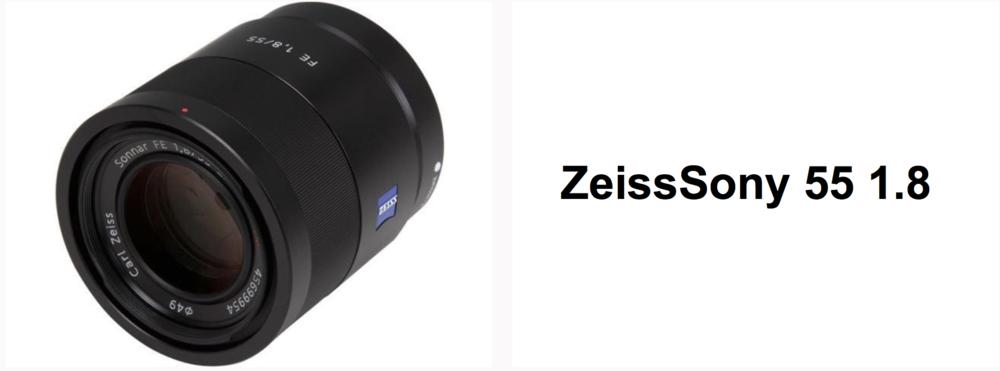 Zeiss Sony 55 f1.8