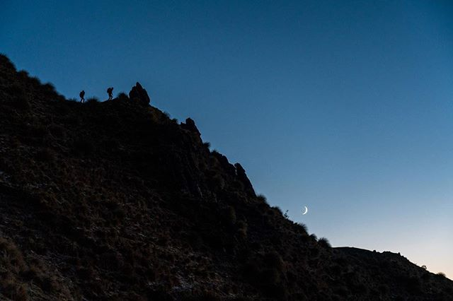 Pre-dawn hikes to get into position for sunrise. //@benhortonphoto