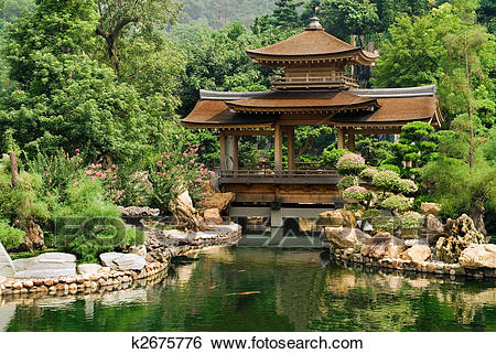 traditional-chinese-house-near-the-pond-stock-images__k2675776.jpg