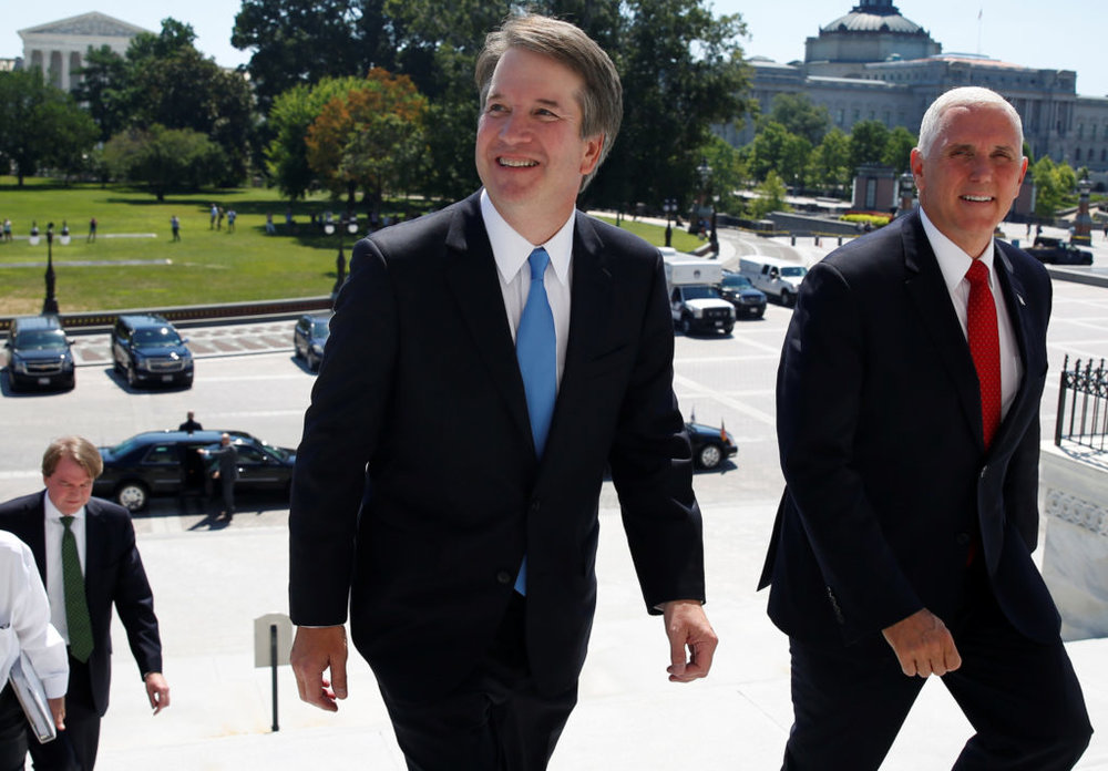 Judge Brett Kavanaugh and Vice President Pence