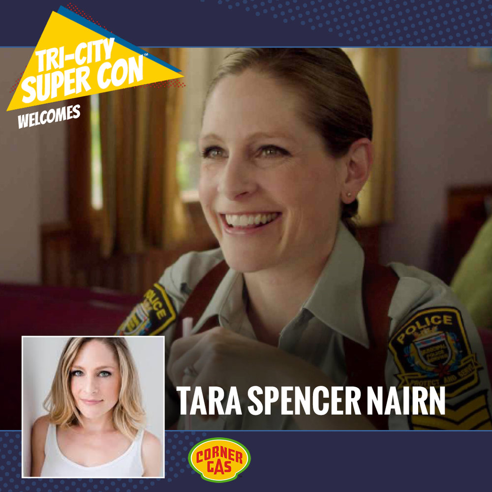 Tara Spencer-Nairn is a Canadian Actress most notably for her role as Dog River Police Department Constable Karen Pelly on Corner Gas. Tara also made appearances in Puppets Who Kill, Relic Hunter, Cold Squad, Flashpoint, and The Outer Limit