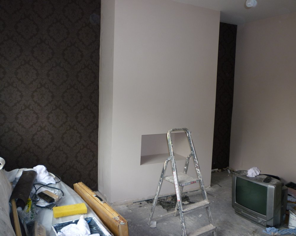 Living room renovation - Plastering & Joinery Works