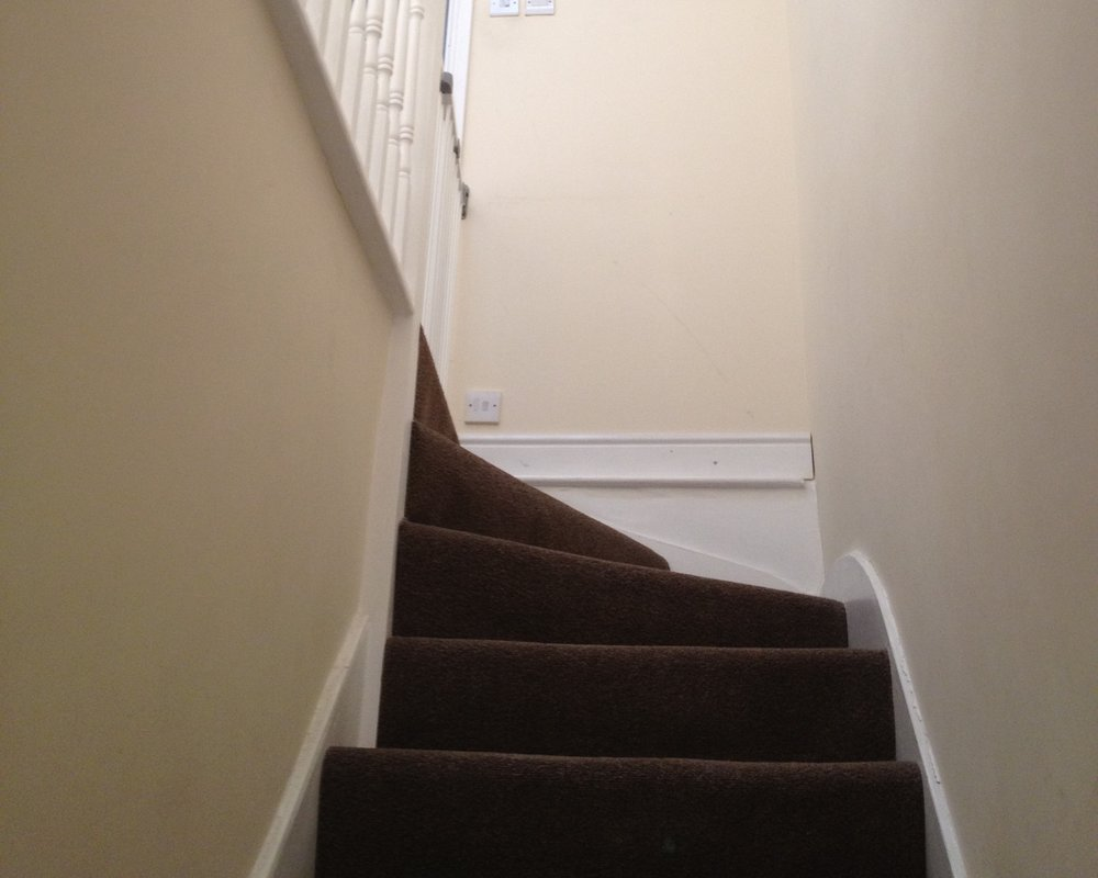Hallway, stairs and landing - Plastering over Artex