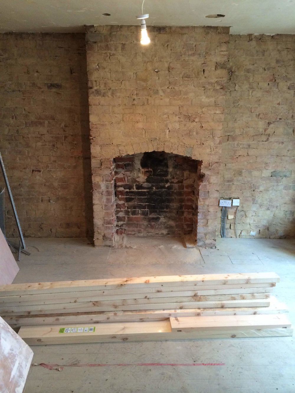 Fireplace renovations - For decorative purposes