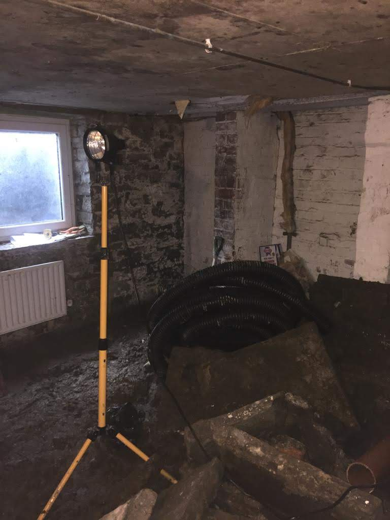 Cellar conversion in progress
