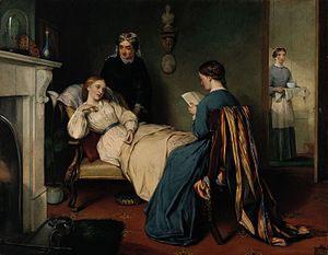 Patient and Nurse with Medicine