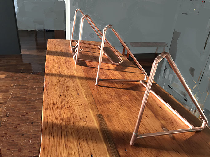 Hanger Rack 1 and 2  Soldered Copper pipes  2017