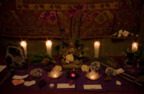 Altar with White Tara at 1st Spirit Babies ceremony
