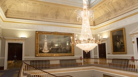 15ft Regency chandelier donated by King George IV