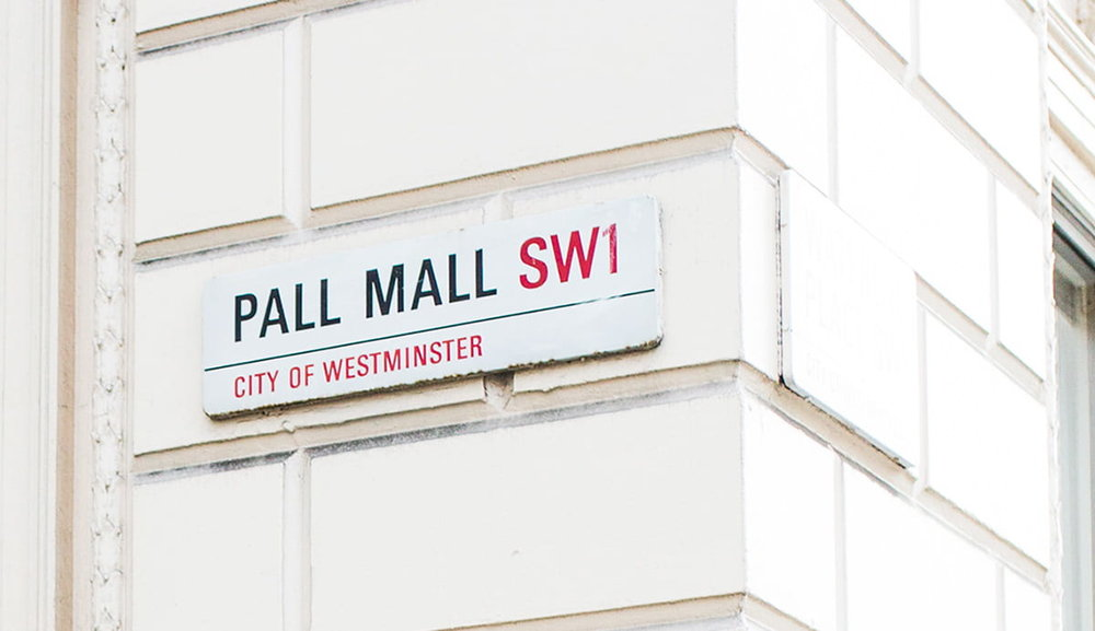 116 Pall Mall sign
