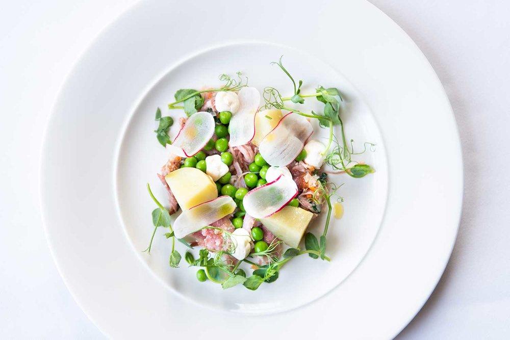 Food salad on plate
