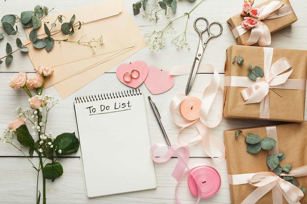 Wedding planning to do list
