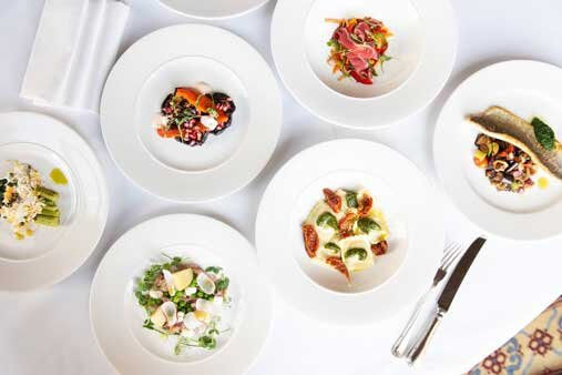 Fine dining dishes