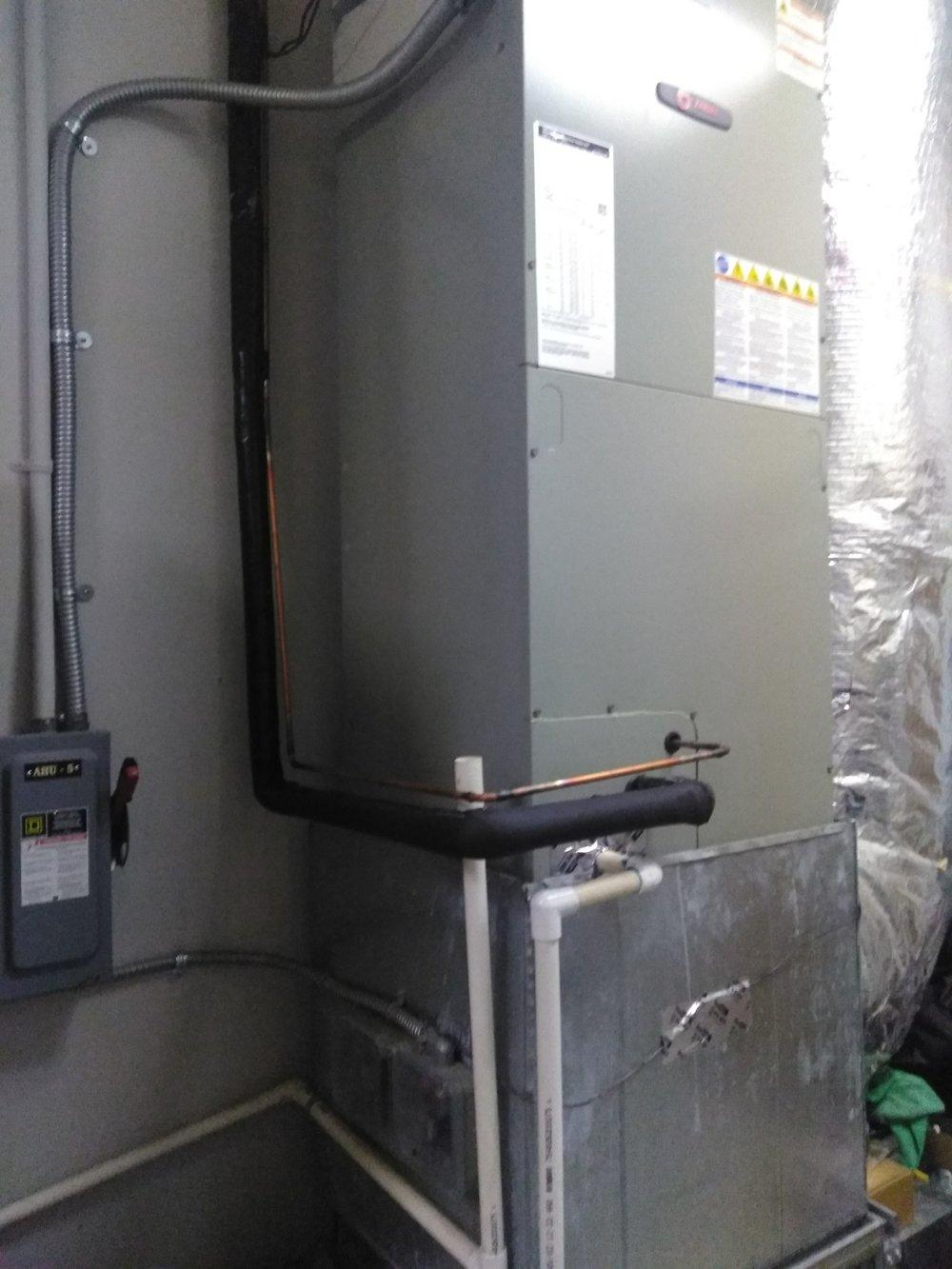 AC Repair Installation - Air Handler at The Door Church.JPG