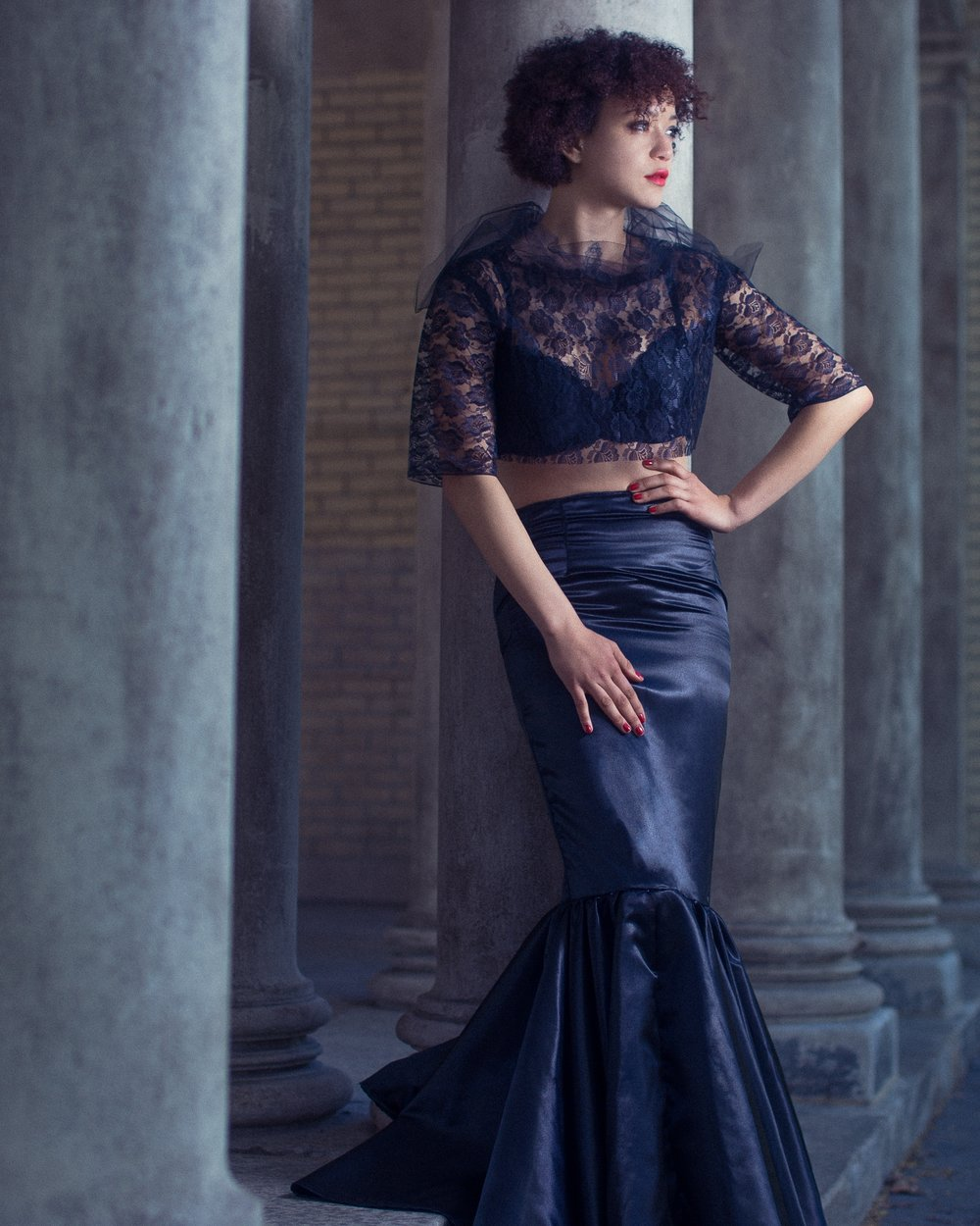 Top and Skirt: The Amme Collection  Model: May Daniels  Photography: Aaron.Hx