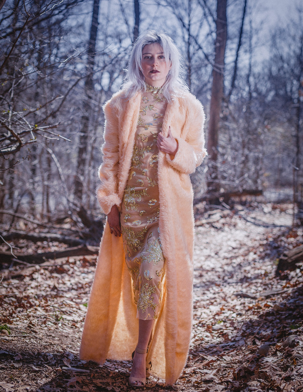 Coat and Dress: The Amme Collection  Model: Melissa Alfaro  Photography: Aaron.Hx