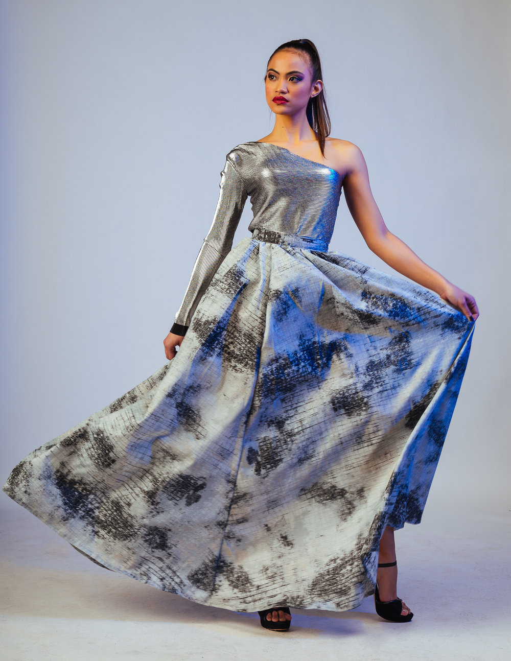 Top and Skirt: The Amme Collection  Model: Jacqueline Paras  Photography: Aaron.Hx  MUA: Beauty By Humaira