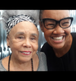 Erica Wall with Artist Betye Saar in 2018