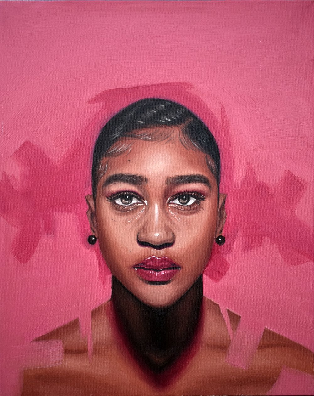 Pink Bomb, 16inx20in, oil on canvas .jpg