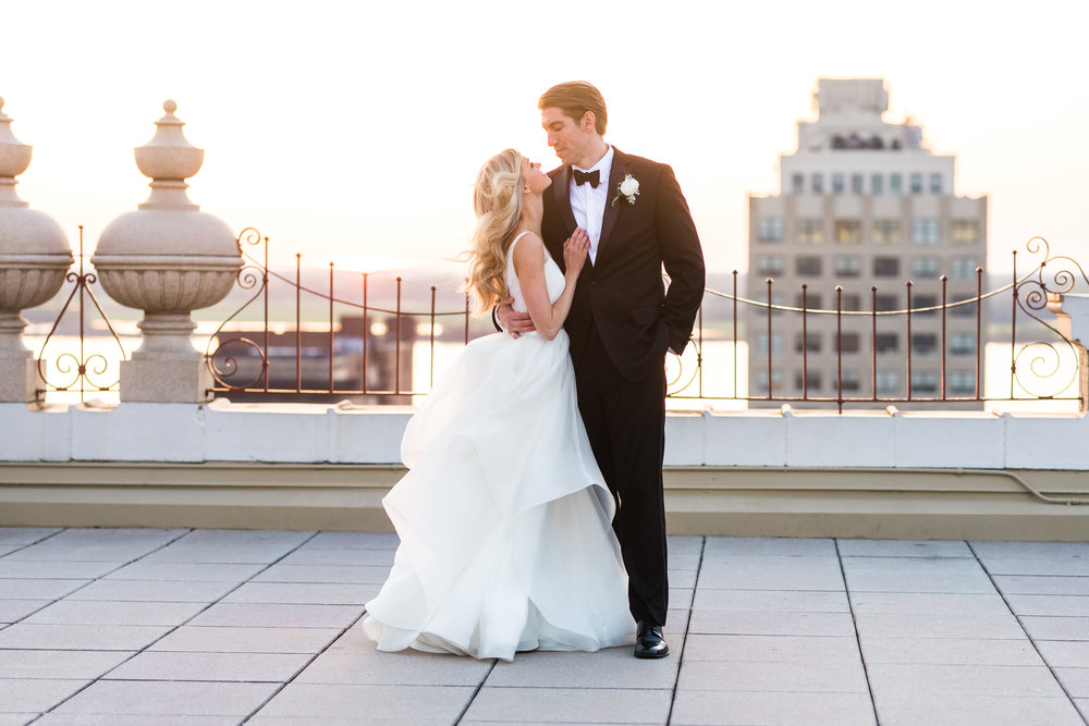 Rooftop Romance: Real Wedding