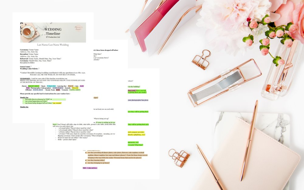 How I Create A Wedding Day Timeline Meredith Events