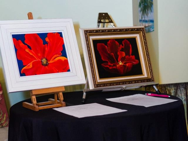 More art silent auction items at the designing women of little rock event held at villa marre in little rock, arkansas and benefiting women and children first.