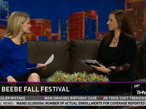 Meredith Events' Owner, Meredith Corning, sits down with THV 11's, Ashley Blackstone, to discuss and promote the Beebe CHamber of Commerce Fall Festival.