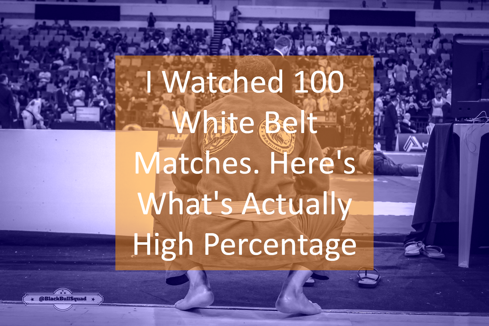 I Watched 100 White Belt Matches  Here's What's Actually High