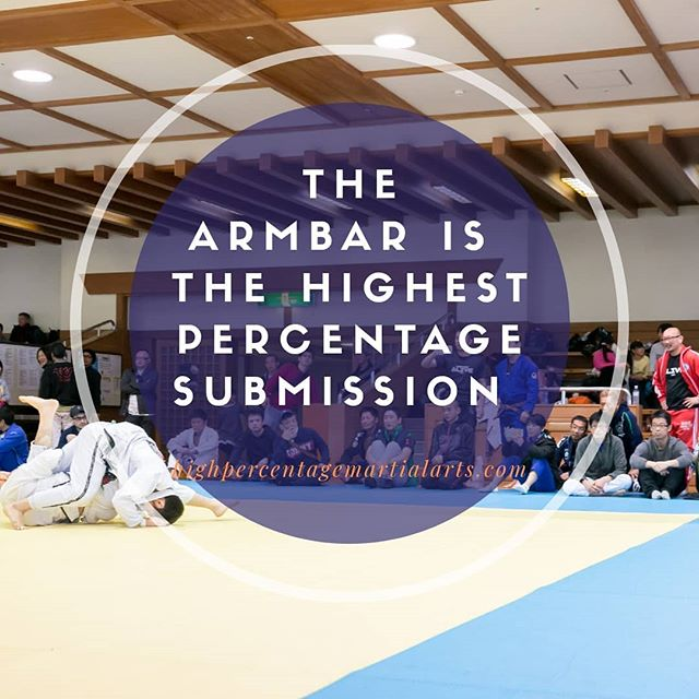 The armbar is now two for two in it's submission dominance, making up the majority of submissions for both white and blue belts. For white belts, it was far and away the most common submission. At the blue belt level, submissions are more diverse. But the armbar still stands above all others as the submission finishing the most matches  #armbar #submission #tap #snap #nap #burlapsack #bjjgold #bjjstats #highpercentage #highpercentagebjj #basics #fundamentals #takinarms