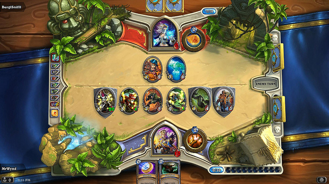 """Don't be fooled by the bright colors, Hearthstone is infinitely more complex than chess, and a great exercise in the concept of """"builds"""""""