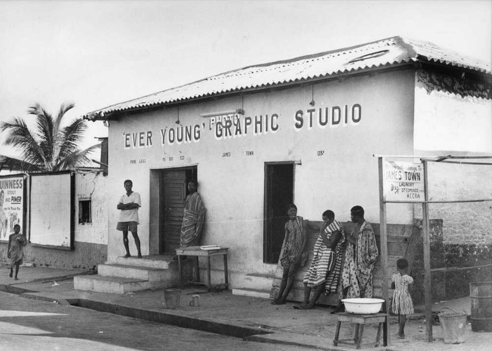 James Barnor's Ever Young studio in Jamestown, Accra, 1956. Photo by James Barnor