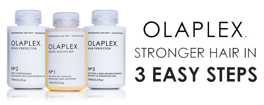 olaplex bond multiplier - no1 no2 and no3 - olaplex stronger hair in 3 easy steps - olaplex stockists
