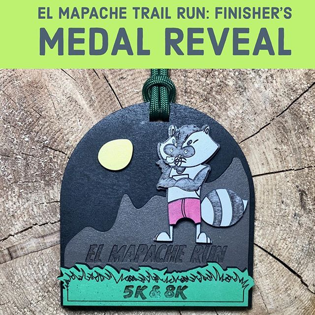 *** El Mapache Trail Run 5k & 8k Finisher's Medal Reveal *** Join us Saturday, April 13th at the beautiful @guadaluperiverstatepark 🏃🏽‍♀️🏃🏻‍♂️🦝🍃