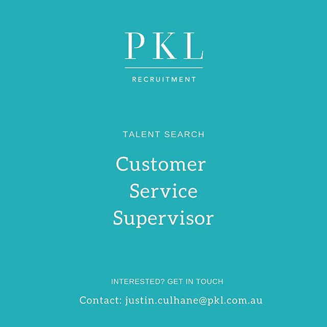 Looking for a new opportunity? We are currently recruiting for a Customer Service Supervisor in Melbourne's South East!💡 Swipe for details 👉🏻 Contact: justin.culhane@pkl.com.au #pklrecruitment #pklpositions