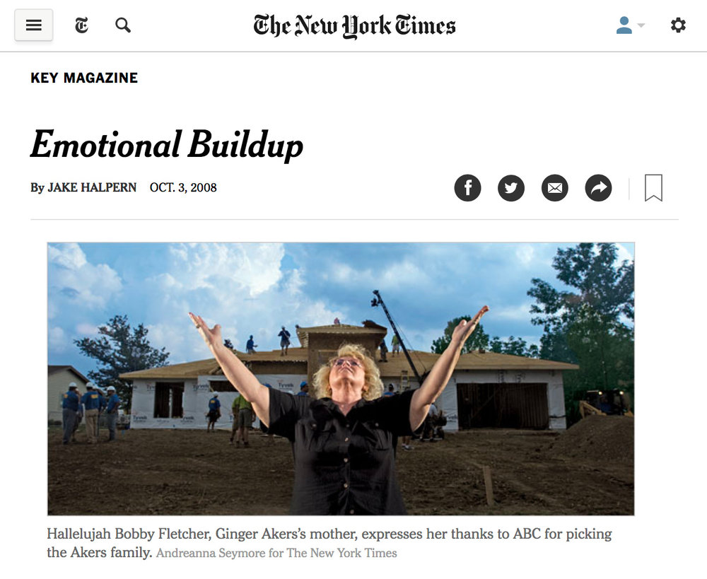 Emotional Buildup on The New York Times