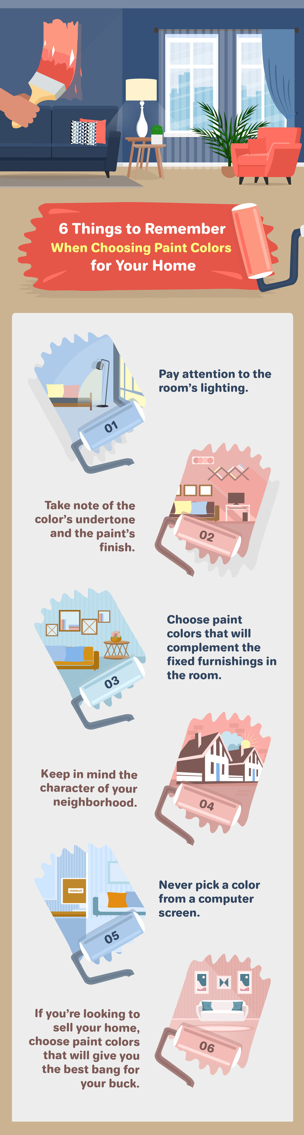 6 Things to Remember When Choosing Paint Colors for Your Home