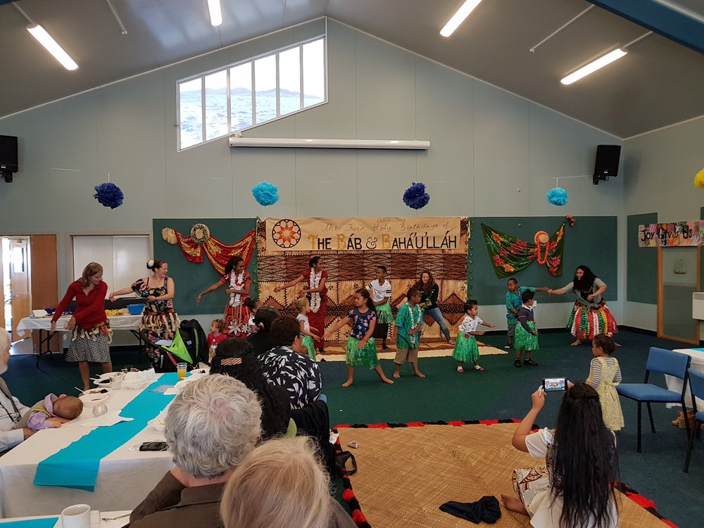 Invercargill - All the celebrations accumulated into one big celebration that the Local Spiritual Assembly organised and was held on the 10th of November. This one was more publicised and an event made on Facebook to invite more people beyond our circle of friends.