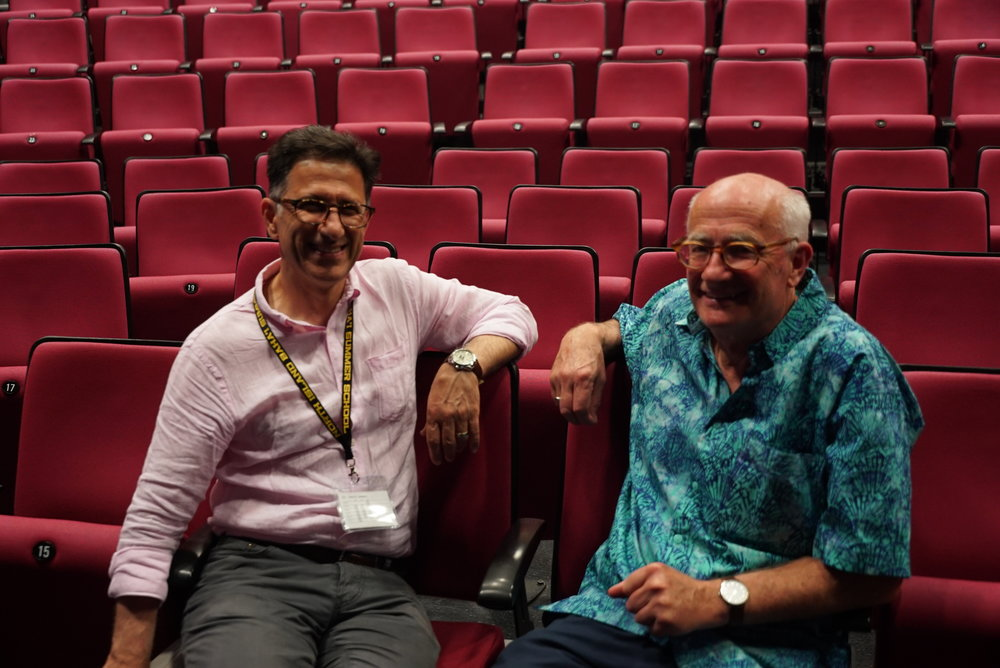 Dr Saberi and Mr Day, the two guest speakers this year, and both from Australia, take a moment to relax