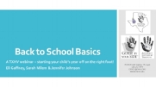 "2018 Back to School Webinar - Webinar on Back to School Basics and Safety with Guest Presenters Eli Gaffney, Sarah Milem and Jennifer Johnson This presentation is a ""Basics Bootcamp"" on starting your Deaf/HH child's year off on the right foot! We share resources, tips and tools for effectively partnering with your school and adding safety measures to your child's IFSP/IEP.PDF files can be found here"