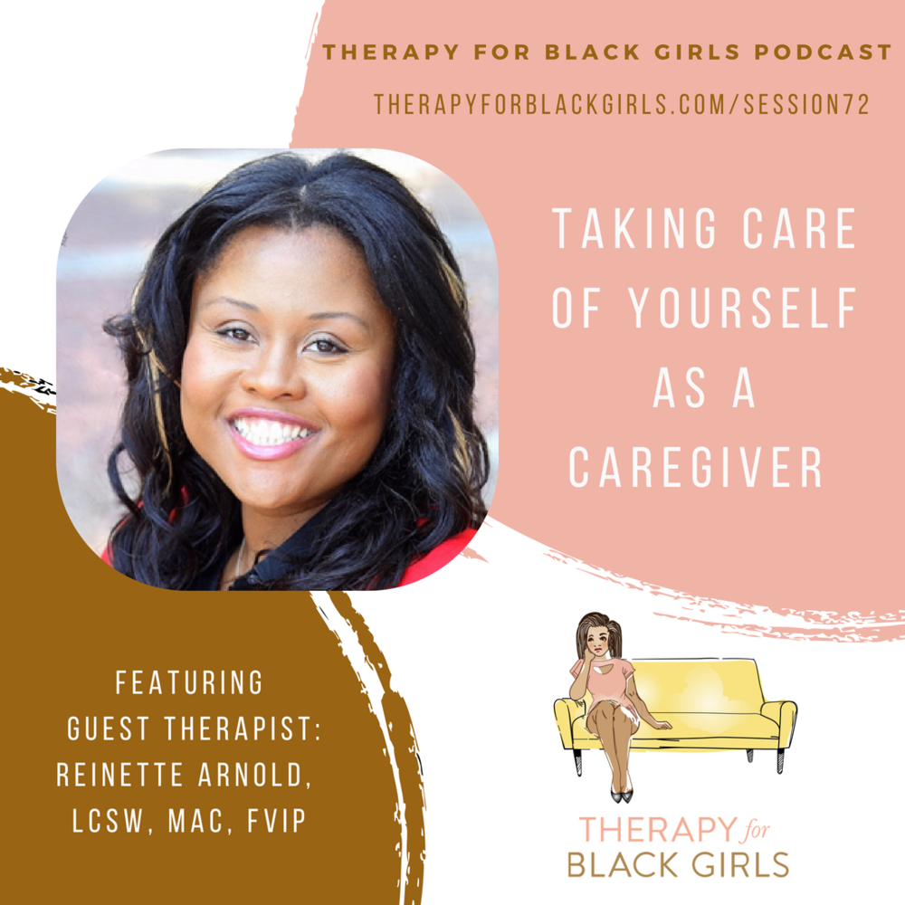 Interview on Therapy for Black Girls Podcast - Our founder and CEO Reinette Arnold LCSW, MAC, FVIP was interviewed on Therapy For Black Girls Podcast by Dr. Joy Harden Bradford. This interview focuses on the complexities and support needed for adults who provide caregiver support to adults. This interview provides dialogue and insight on how to navigate family systems/dynamics, and increase self-care among adults who provide caregivers support.  Check out this podcast at Therapy For Black Girls Podcast.