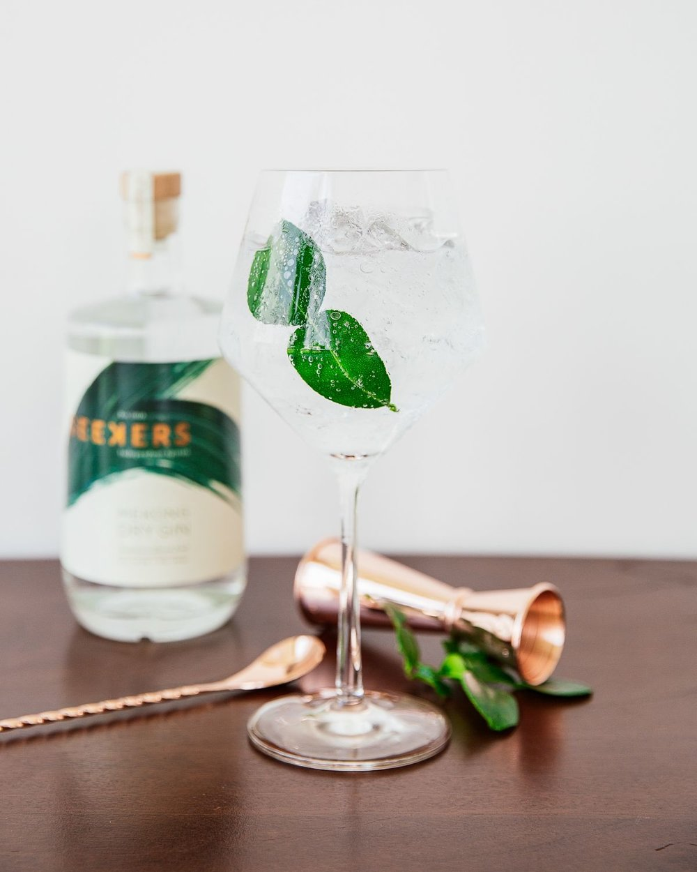 Seekers & Tonic - The ultimate sundowner. Refreshing and aromatic.50ml Seekers Mekong Dry Gin150ml Tonic WaterServe in a large copa glass. Pack full of ice. Garnish with a Kaffir Lime Leaf.