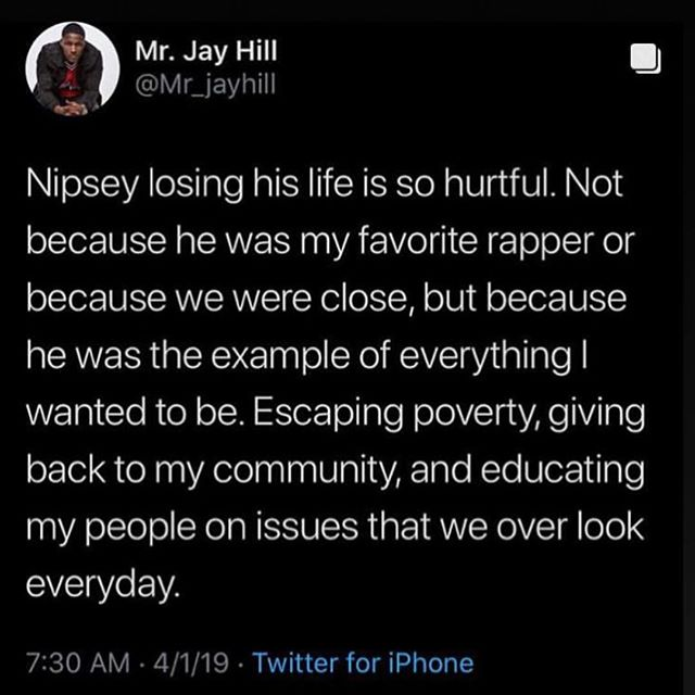 Straight tears bro. 💔🥺 —- Wish I was back home with my family and friends. If you see me, hug me.. cuz I need it. #RIPNIPSEY 👼🏿