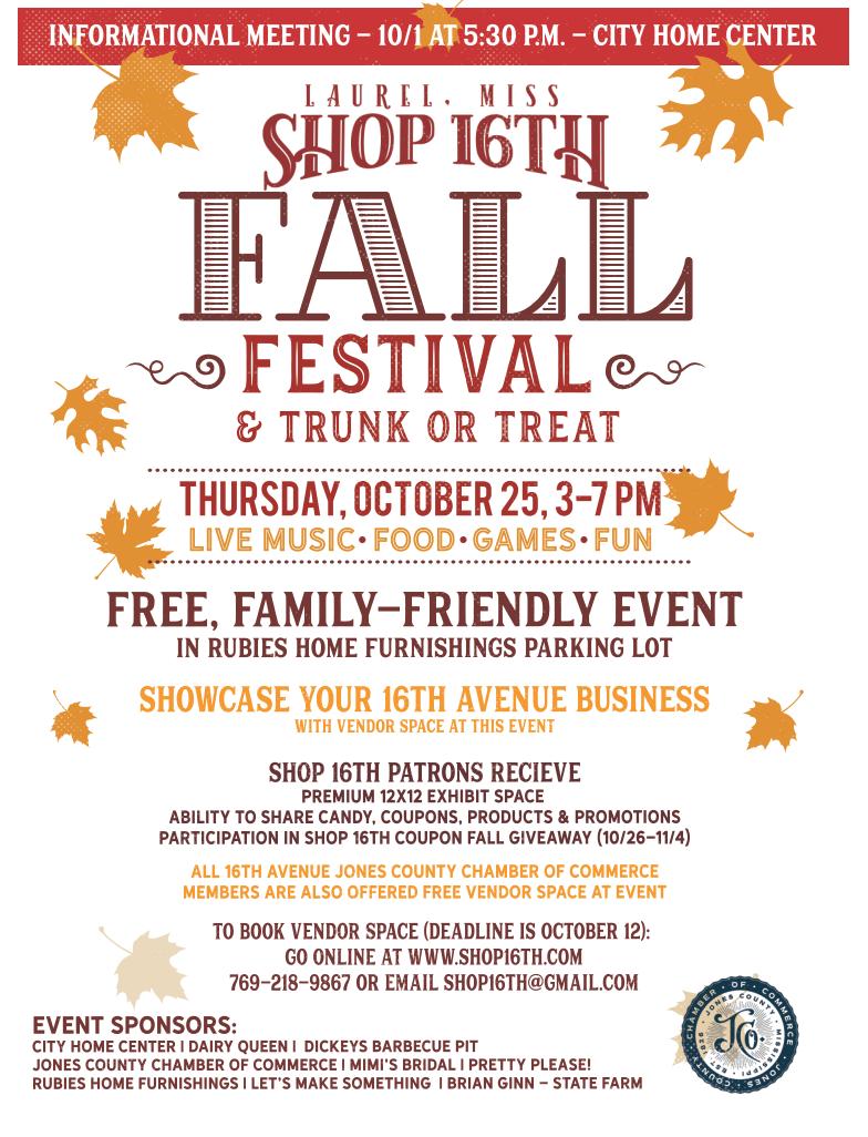 Shop 16 Fall Festival