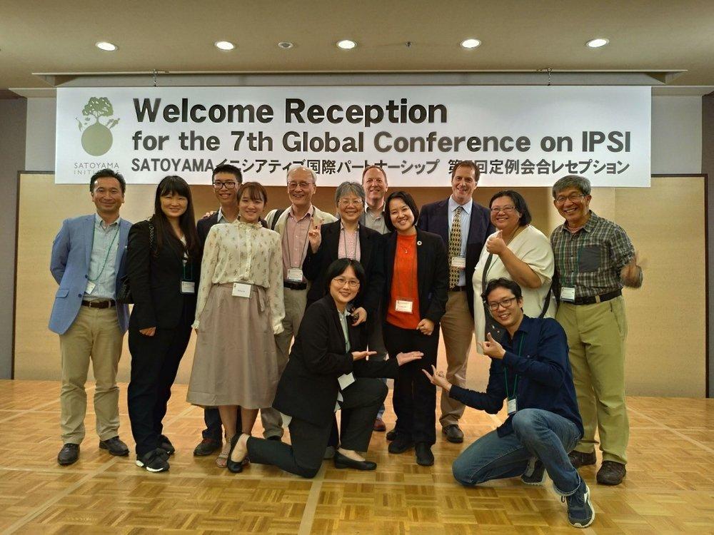 出席IPSI-7的台灣成員與IPSI友人在大會晚宴時合影留念
